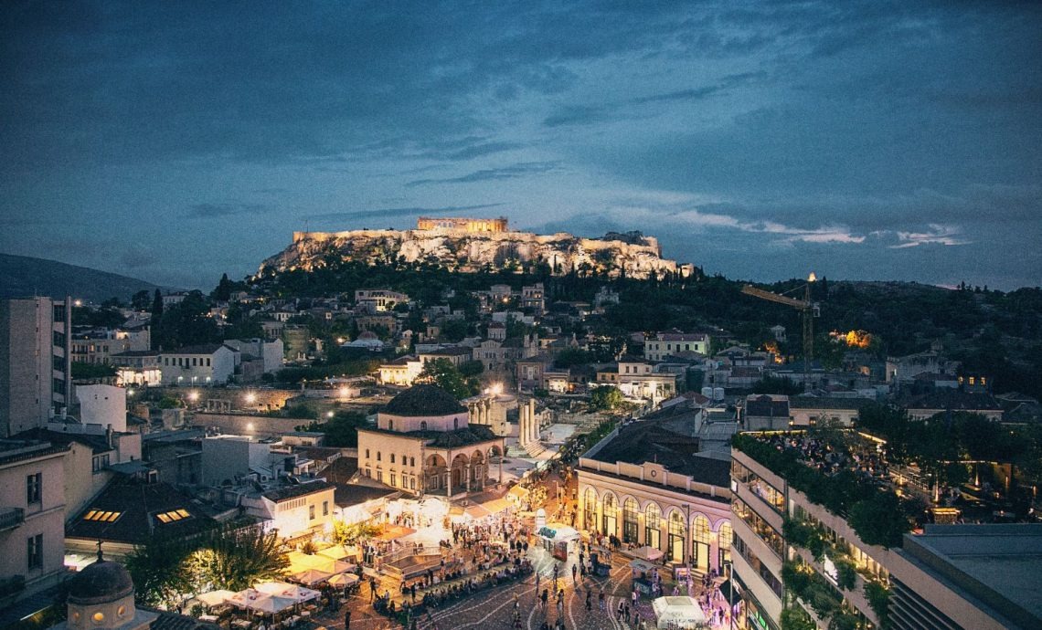 This is Athens in Christmas